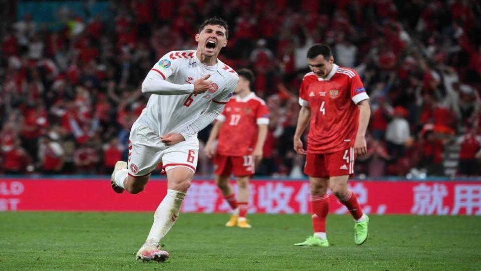Τρομεροί και δεύτεροι οι Δανοί, 4-1 τη Ρωσία
